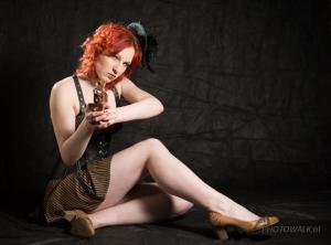 Ter voorbereiding op de Elf Fantasy Fair een steampunk shoot